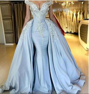 Abiti da sera a sirena a maniche corte con spalle scoperte Strass con perline Bling Bling 2020 Abiti da ballo per ballo formale personalizzati Vestidos De Soiree