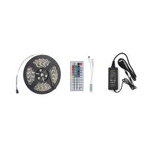 Haute Birght 16 .4ft 5m Smd 5050 300LEDs étanche Rgb Changement de couleur flexible bande de LED Télécommande 12v Adaptateur