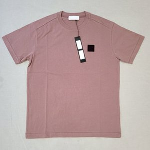 20SS 64450 Малый PATCH Вышивка T-SHIRT T0PST0NEY пуловер Мода Solid Color Street с коротким рукавом Открытый Мужчины Женщины HFHLTX134