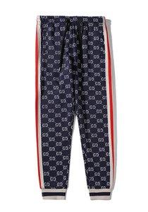 Streetwear Moda Marca Designer 2020 mulheres New Mens Casual Joggers Pants Hip hop calças fita Sweatpant Terry longas