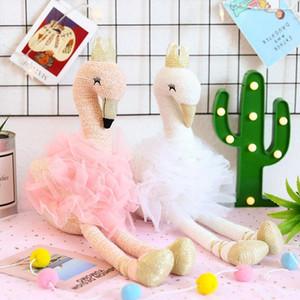 ins lindo del baile flamenco princesa muñeca de la felpa del juguete, zapatos Corona danza, dibujos animados animal relleno Favorite Girl, Adorno de Navidad Kid Regalo de cumpleaños