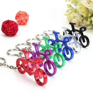 240pcs новизны велосипед брелок Keyring бутылки вина пива открывалка Tool 6 цветов Подвеска Key Chain Rings держатель шарма ювелирных изделий