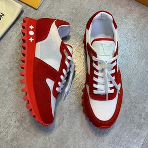 Высокое качество новая мода роскошные мужчины повседневная обувь кожаные мужские шнуровке кроссовки, дышащий мужская Бегун кроссовки теннис большой размер обуви 1A525U