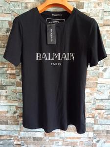 2020-2021High Qualité Hommes Jeans T-shirts T-shirts Rouge Noir Blanc Hommes BALMAINTop à manches courtes S-XXL Livraison gratuite