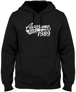 Impressionante desde 1989 - 29º aniversário do presente - as senhoras impressas impressão menina hoodies camisolas