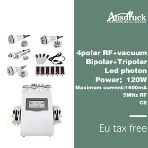 معفاة من ضريبة الاتحاد الأوروبي New Lipo Laser ترددات الراديو بالموجات فوق الصوتية BIPOLAR فراغ التجويف RF BIO الجمال آلة التخسيس