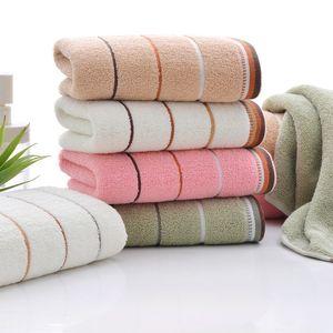 Bath Towels 100% Cotton Towel Avaliable Cotton Fiber Natural Eco-friendly Stripe Face Hand Bath Cloth Bathroom Absorbent 35*75