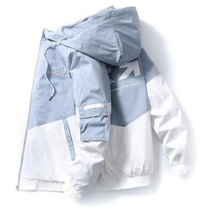 Tasarımcı Bahar ve Sonbahar Giysiler Erkekler Ceket Boyut 3XL Dış Giyim Kapşonlu Coat İnce Parka Erkekler Kapşonlu Moda Baskılı Ceket