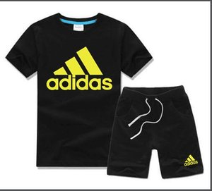 Top brand New Style 2-7 Age Children's Clothing For Boys And Girls Sports Suit Baby Infant Short Sleeve Clothes Kids Set