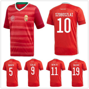 2020 Hongrie équipe nationale de football Jersey Dominik Szoboszlai Tamás Kádár Baráth SZALAI NEMETH BALOGH Personnaliser 19 20 Accueil Football Shirts