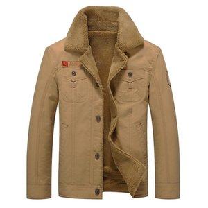 Hot Selling Jacket Men's Fold-down Collar Brushed And Thick Coat Tough Guy Uniform MEN'S Coat Fashion