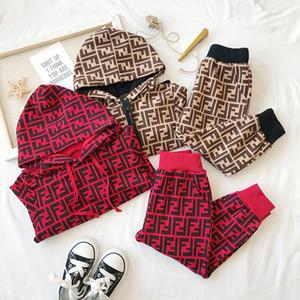 2019 Çocuk Spor Suit Spring için Bebek Giyim Güz Seti VETEMENT Garcon Hırka Bebek Ceket + pantolon Ücretsiz Shipping90-130 için Bebek Giyim