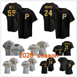 Pittsburgh Pirates 2020 Chris Archer Corey Dickerson Josh Bell Cole Tucker Jameson Taillon Jung Kuhl Honus Wagner Clemente baseball Jersey