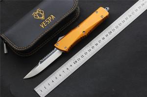 Lame de couteau (S / E) de la poignée VESPA D2: Aluminium, couteaux de camping survie extérieure outils EDC