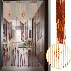 Fashion Wooden Door Curtain Blinds Handmade  Screen Wooden  Room Divider 90x175cm-38 wave / 90x195cm-36 line