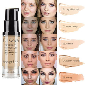 SACE LADY Full Cover 8 цветов жидкий консилер макияж 6 мл глаз темные круги крем корректор лица водонепроницаемый макияж база косметическая