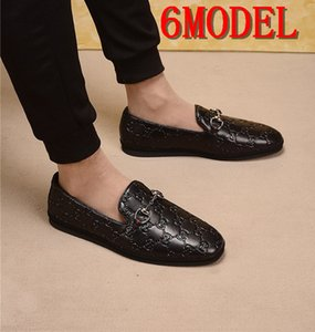 19SS luxurious Mens Shoes Fashion Comfortable Men Casual Shoes Footwear Chaussures Flats Men Slip on Lazy Shoe Zapatos Hombre Men Loafers