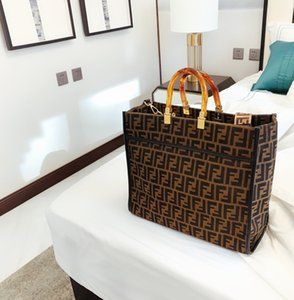 Presentes da forma Handle Tote Top Mulheres saco de compras das mulheres contorno quadrado 012904