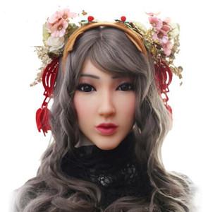 EYUNG princesa Christina máscara facial para máscara femenina de silicona europea para mascarada Halloween Crossdresser con video muestra