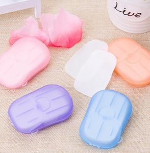 Monouso Boxed Sapone di carta in mano portatile di viaggio di lavaggio profumato fogli di viaggio Sapone di carta bagno profumato lavare le mani Paper Soap KKA7787