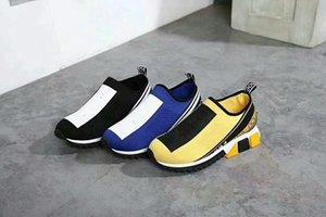 Новое поступление Donna Плоские кроссовки Дизайнерская роскошная мужская обувь Женская заклепка Spiky Sock Junior Spikes Flat Shoess jan180325