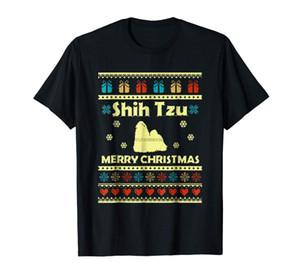 Shih Tzu Hässliche Weihnachtsstrickjacke T-Shirt-Männer-T-Shirt-Black