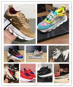 Versace Chain platform shoes xshfbcl Leichte verkettete Skateschuhe Herren Damen Schwarz Blau Rot Blau reine Farben-beiläufige Schuh-Turnschuhe 36-45