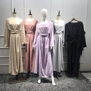 Dubai Abayas For Women Muslim Clothing Robe Bandage Kaftan Dress Islamic Caftan Open Front Eid Abaya Arabic Vestidos