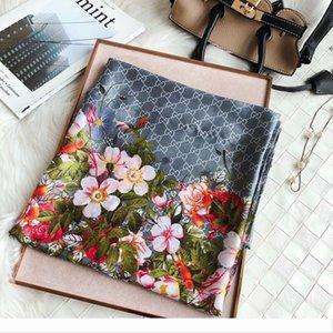 Designer 2020 Luxury flower letter women silk scarf designer classic style beach shawl headwrap silk scarves exquisite woman accessories s