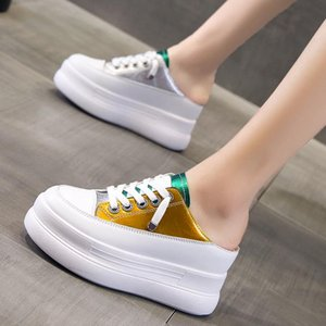 In summer women with half slippers wear 2020 new wedges with thick-soled sponge cake