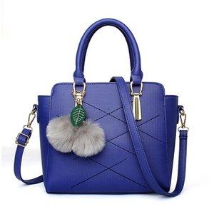 LEFTSIDE Damenmode Top-Griff Messenger Handtasche Lady PU Leder Handtasche weibliche Umhängetaschen mit Hairball Anhänger Totes