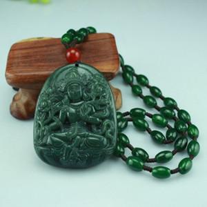 Envío gratis Hetian jade diosa amarilla colgante natural jade piedra jade collar colgante espíritus malignos