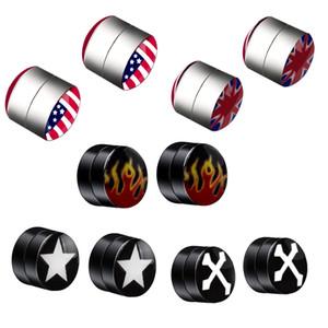 1PC Punk Rock Style Stainless Steel Earrings Cylindrical false piercing Magnet Ear Clip Men women Jewelry Gift