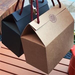 Caixas de embalagem Portableuniversal Kraft Caixa De Papel Mel Doce Perfumado Chá Açúcar Mascavo Mão Carry Caixa De Presente Venda Direta Da Fábrica 0 98mz p1