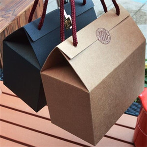 Verpackung Boxen Portableuniversal Kraftpapier Karton Honig Marmelade duftenden Tee brauner Zucker Hand tragen Geschenkbox Factory Direct Selling 0 98mz p1