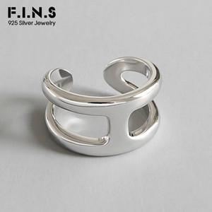 Kadınlar Açık Parmak Yüzük Kadın Alyans Güzel Takı V191220 için F.I.N.S Kore Moda Katmanlı 925 Gümüş Yüzük