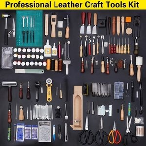 Kit professionale in pelle Craft mano Strumenti con le istruzioni per cucire a mano in brossura, che timbra insieme e sella Fare Tool Set