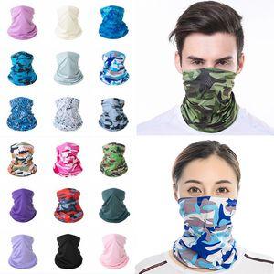 Bandana bufanda mascarilla de protección solar Bragas de cuello del tubo inconsútil de múltiples funciones Headwear de pesca al aire libre Ciclismo diadema