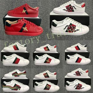 New Ace Luxusfreizeitschuhe Triple Black Sneakers Herren Damen Designer Wohnung Skate Bee Snake-Streifen-Stern-Plattform Luxe Weinlese Mens-Turnschuhe