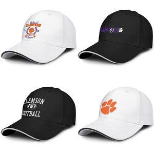 Clemson Tigers logo Baseball ajustável Sandwich Hat personalized Cap Arch Logo College Football Playoff 2018 National