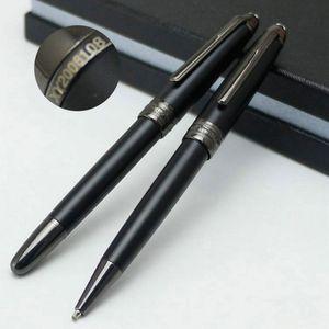طبعة محدودة MSK-163 أسود غير لامع مونتي القلم المسلسل عدد XY2006108، مجوهرات فاخرة أزرار أكمام قميص بدلة رجال MB أزرار أكمام قميص