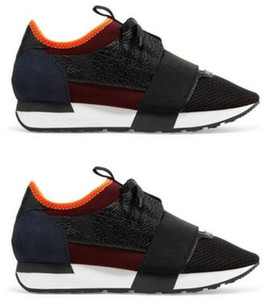 Sneaker abbinate alla moda Top Designer Low Top da donna Scarpa Casual Kanye West Style Race Runner Mesh Scarpe traspiranti