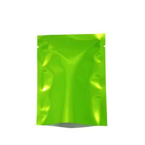 Glossy Open Top Green Aluminum Bags Heat Seal Food Vacuum Storage Packing Bag Plastic Package Bags
