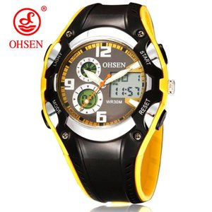 OHSEN Unisex Relógio Moda Mulheres Esporte Relógios Ladies impermeáveis Student Multifuncional Relógio de pulso Digital LED Quartz Men Watch