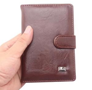 Custodia per passaporto in pelle da uomo Custodia da viaggio per passaporto russo Custodia portafogli per documenti con patente russa