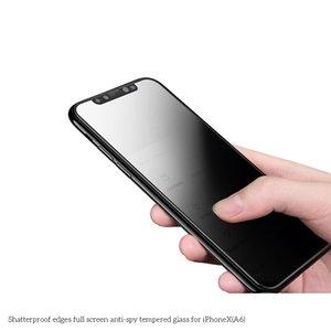 A6 é aplicável à maçã x espiando anti-film frente iPhoneX anti-quebrando borda full-screen anti-peeping filme aço