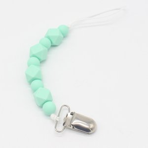 Baby Dummy Chain Silicone Pacifier Clips Bead Dummy Clip Infant Handmade Newborn Teether Toy