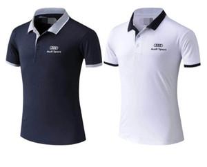 fitil takım polo gömlek nefes yarış takım elbise sürme 2020 Yeni Audi kısa kollu erkek tişört dağ bisikleti çabuk kuruyan