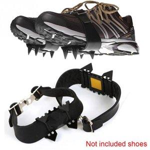 1 Coppia Anti-Skid Neve Ice Climbing Shoe Spikes Grips Ramponi morsetti Copriscarpe ramponi spike scarpe ramponi scarpe antiscivolo copertina