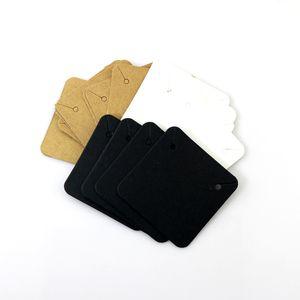 빈 크래프트 종이 쥬얼리 표시 목걸이 카드 교수형 액세서리를 만들기 위해 보석에 대한 호의 라벨 태그